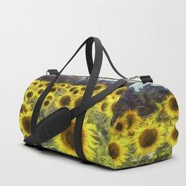 Sunflower Fields Of Dreams Art Duffle Bag