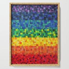 Chakra Rainbow Tiles Serving Tray