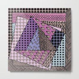 simple purple doodles Metal Print