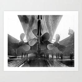 Titanic Propellers Art Print