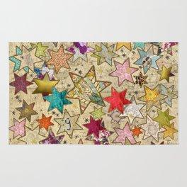 Vintage nail stars on Constellation Rug