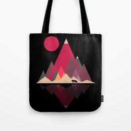 Fox Lands Nature Geometric Sun Tote Bag