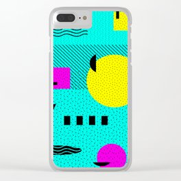 Hello Memphis Lemon Splash Clear iPhone Case
