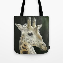 Giraffe Realistic Painting | Animal | Wildlife Art | Nursery Art | Cottage Decor | Home decor Tote Bag
