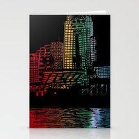 cincinnati Stationery Cards featuring Cincinnati Nights by Tambergal
