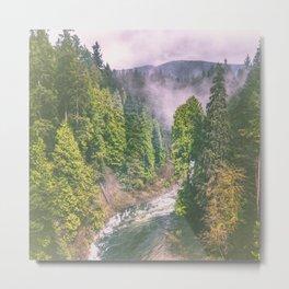 Fog Forest Metal Print