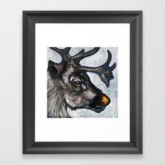 Rudolph, the Red-Nosed Reindeer Framed Art Print
