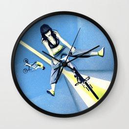 Happy Joyride (blue yellow) Wall Clock