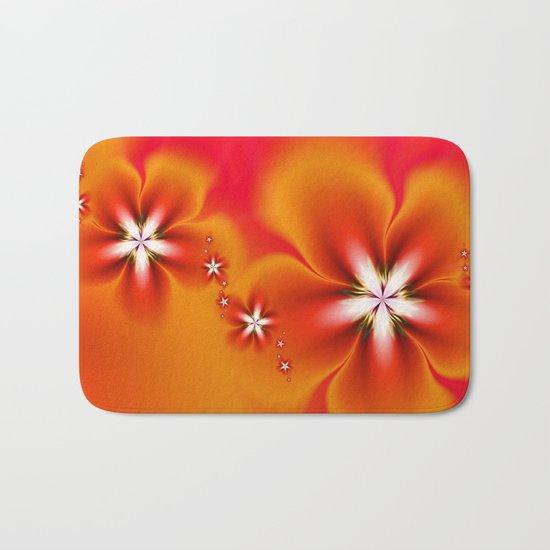 Fleur d'Automne Fractal Bath Mat
