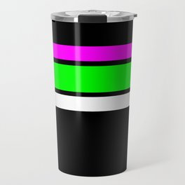 Team Colors 2....neon green and pink stripes Travel Mug