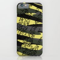 Yellow tan and black camo abstract iPhone 6s Slim Case