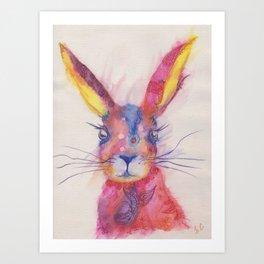 Ink Animals of Africa - Paisley Rabbit Art Print