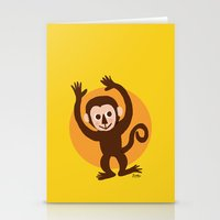 monkey island Stationery Cards featuring Monkey by BATKEI (Keiko W)