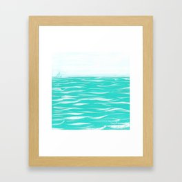 Sailing Across A Turquoise Sea Framed Art Print