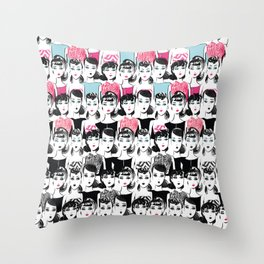 Barbie is the new black Throw Pillow