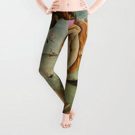 """Botticelli's Bubble Gum Contest The Birth of Venus """"renaissance"""" pop art painting Leggings"""