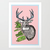 lawyer Art Prints featuring I'd like a lawyer by Monkey Chow