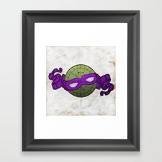 the purple turtle Framed Art Print