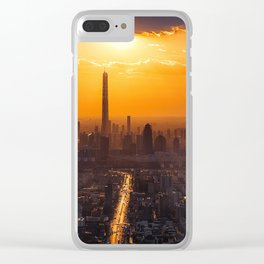 Tianjin City at Sunset Clear iPhone Case