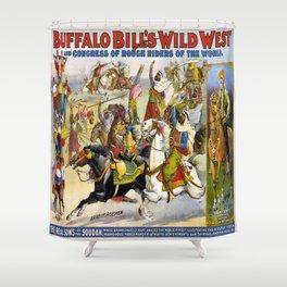 Buffalo Bill Wild West Shower Curtain