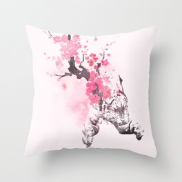Blooming attack Throw Pillow
