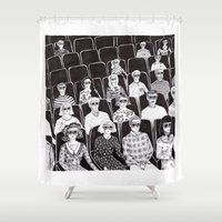 movies Shower Curtains featuring The movies by Margarida Esteves