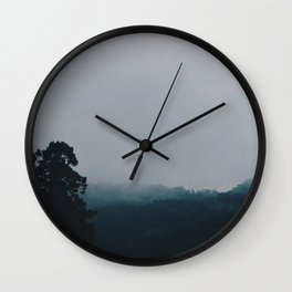 In the mists of mountains Wall Clock