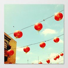 Lanterns III, Chinatown Canvas Print