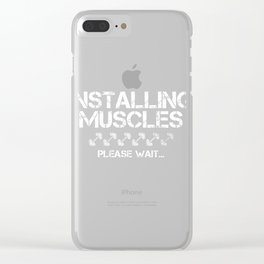 Installing Muscles Weightlifting product Gift for Gym lovers Clear iPhone Case