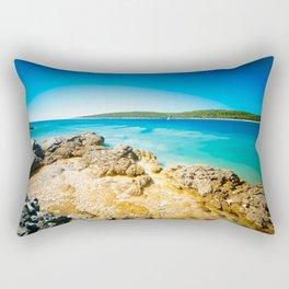 summer day in Croatia Rectangular Pillow