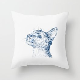 Cute chilling cat Throw Pillow