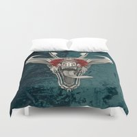 edm Duvet Covers featuring DRAQVVL (background option) by Obvious Warrior