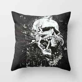 Dark Gothic Skull Throw Pillow