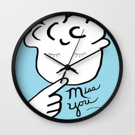 ASL Miss You Wall Clock