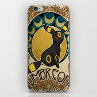 umbreon iPhone & iPod Skins featuring Umbreon by Yamilett Pimentel