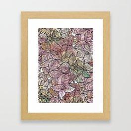 color leaf Framed Art Print