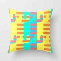 Cacti light Throw Pillow