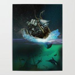 Kraken Attack Poster