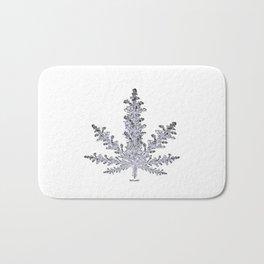 Cannabis Snow Flake Bath Mat