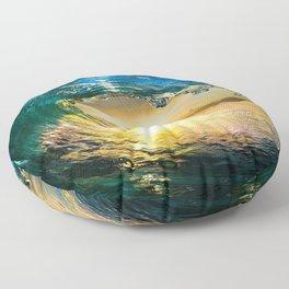 Glowing Wave Floor Pillow