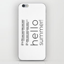 Hello summer! (white) iPhone Skin