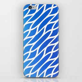 Blue Diagonal Pattern iPhone Skin