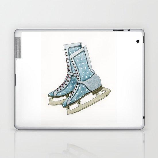 Polka dot ice skates Laptop & iPad Skin