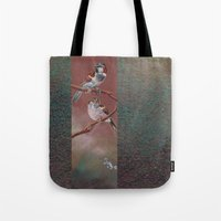 sparrow Tote Bags featuring Sparrow by Ju.jo.weh