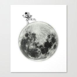 Cool Astronaut Moon Exploration Expedition Aeronautics Canvas Print
