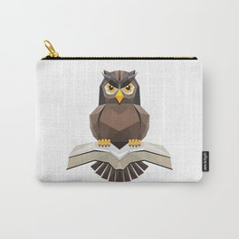 Vector, Brown Owl fly with the book Carry-All Pouch