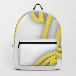 Letter D in Yellow Backpack