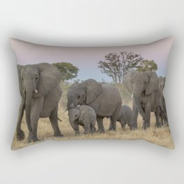 To the Watering Hole Rectangular Pillow