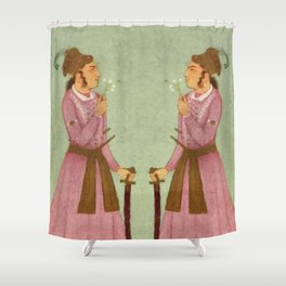 Akbar - Mughal Emperor Folk Hero Shower Curtain