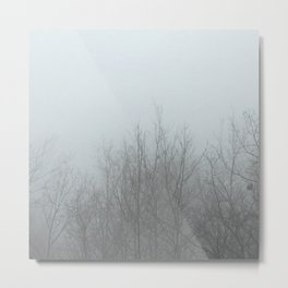 Ghost Trees - Gray Metal Print